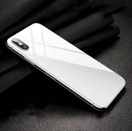 2019 iphone back cover verre noir Pour Apple XS, le verso noir et blanc du film recouvre le verso du verre trempé. promotion iphone back cover verre noir