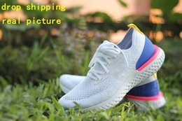 Wholesale cheap leather sleeves - 2018 New Discount Cheap React React Epic Thick Sleeve Shoes Design Men's Women's Free Run Casual Racer High Quality Shoes Size Eur 36-45