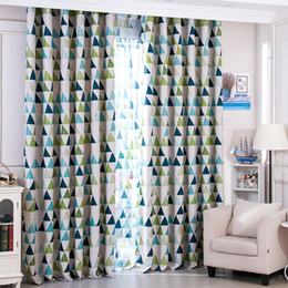 Wholesale Bedroom Window Decor - Safety Triangle Window Curtains Breathable Bedroom Living Room Decor Supplies Easy To Clean Shading Curtain Cloth High Quality 16 5yf B
