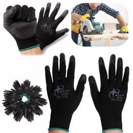 2019 handschuhe taktisch grün 2018 neue Großhandel 12 Para Nitril beschichtet Arbeitshandschuhe Nylon Sicherheit Labor Fabrik Garten Reparatur Protectore Handschuhe Mode heiß