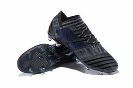 Wholesale Cheap Soccer Shoes Messi - Original Low Soccer Cleats Mens Cheap FG Soccer Shoes Nemeziz Messi 17 FG Football Boots TF IC Indoor Nemeziz Tango ACC 17.3 Boots