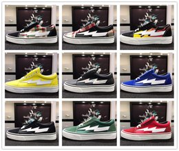Wholesale old collections - Collection All Revenge x Storm Sneakers Pop up Store GD118 Old SKool Off Fashion Grid Mens Skateboard Vulcanized Canvas Shoes 35-44