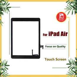 For iPad air 1 ipad 5 Digitizer Screen Touch Screens Glass Assembly with Home Button Adhesive Glue Sticker Replacement Parts A1474 A1475