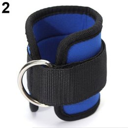 Wholesale gym rings exercises - 1Pc Ankle Strap D-ring Multi Gym Cable Attachment Thigh Leg Pulley Exercise