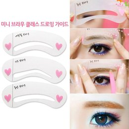 Wholesale Make Template - 3pcs set Eyebrow Stencils 3types Reusable Eyebrow Drawing Guide Card Brow Template DIY Eyebrow Stencils Make Up Tools
