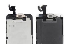 Caméra frontale iphone blanc en Ligne-LCD pour iPhone 6 écran avec bouton Home Caméra avant Écran Tactile Digitizer iphone6 Jeu Complet petites sparts Écran noir blanc Remplacement