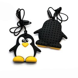 Wholesale Funny Necklaces - Fashion Cartoon Penguin Teether Silicone Necklace Wholesale Funny Teether For Baby Toy Safe For Baby New Hot Necklace Wholesale