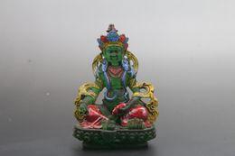 buddha handverzierung Rabatt Vorzügliche chinesische Hand schnitzte Buddha-Glasstatue at163