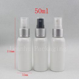ugelli all'ingrosso spray spray Sconti all'ingrosso 50ml vuoto ugello spruzzatore anodizzato pompa di plastica bottiglie di profumo, 50cc spruzzatore di nebbia bottiglie con pompa, set da viaggio