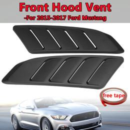 2019 janela traseira do caminhão Frente capa de ventilação Fit For 2015-2017 Para Ford para a ingestão Mustang painel de guarnição preto 2pcs Universal Car Air colher Bonnet capa de ventilação