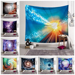 Wholesale wall weaving - 150*130CM 8 Styles Galaxy Sky Star print Tapestry Wall Hanging Beach Picnic Throw Rug Blanket Decor Outdoor yoga Kids mat AAA574