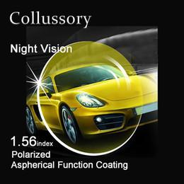 2019 предписанные поляризованные линзы 1.56 индекс асферические поляризованные ночного видения желтый оптический рецепт EMI HMC вождения солнцезащитные очки линзы высокое качество тонкий дешево предписанные поляризованные линзы