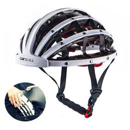 Wholesale Bike Design - New Design Folding Cycling Helmet 56-62cm Ultralight Women Men Ultralight Bike Helmets Breathable Portable Road Bicycle Helmet Safety Hat Ca