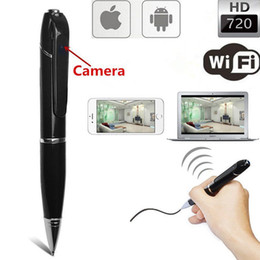 Wholesale Wireless Digital Spy Camera - HD WiFi Spy Pen Hidden Camera Micro USB for IOS Android Recording Digital Surveillance Gadget Security Wireless IP Mini Pen Camera
