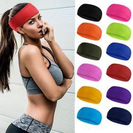 c3ecbfa80cd50 Yoga schweißband frauen männer trocknen schnell atmungsaktiv elastische  stirnband einfarbig laufen fitness sport band günstige farbe laufen  stirnband