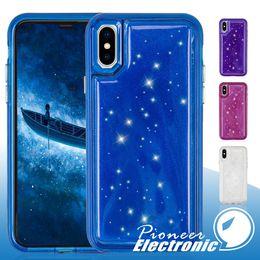 Iphone x için Kılıf Hybird bling kristal Jöle Telefon Tpu Pc Basınç Azaltma Arka Kapak Kılıfları iPhone 6 7 8 Artı vaka nereden kristal bling telefon kapakları tedarikçiler