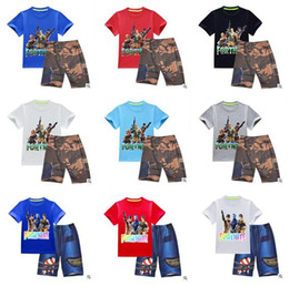 Wholesale wholesale clothing for boys - Boys Clothing Sets Fortnite Battle Royale T-shirt For Boys Tees Casual Shorts For Kids Fortnite Boys Clothing Summer Tracksuits Best Gifts