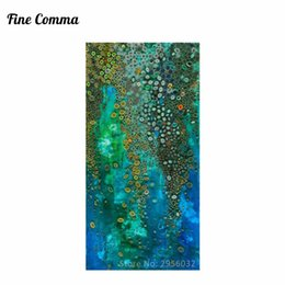 Wholesale Hand Painting Klimt - Blue Klimt Style Abstract Oil Painting Hand Painted Large Canvas Wall Decor Art for Living Room Bedroom Handmade Canvas Wall Art