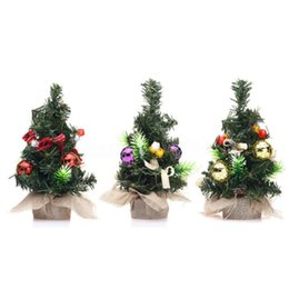 Wholesale Green Figurines - Mini Christmas Tree Xmas Decorations Best Gifts A Small Pine Tree Placed In The Desktop Festival Home Party Ornaments New 2017