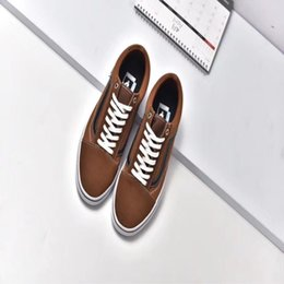 Wholesale flame fabrics - VANS old goods Skool flame black and white chessboard black blue yellow checkerboard ERA PRO red board sports shoes skateboard shoes