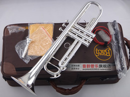 Deutschland Professionelle Musikinstrumente LT180S-90 Bb Trompete Messing Versilbert Exquisite Hand Geschnitzte B Flache Trompete Mit Mundstück Versorgung