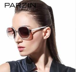 Рамки градации онлайн-PARZIN Марка Поляризованные солнцезащитные очки Женская большая кошка Eye Metal Frame Grace Elegance Fashion Высокое качество вождения Очки 9627