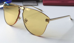 2019 óculos de sol sem armação para homens Luxo 0354 Designer de Óculos De Sol Para Homens E Mulheres Marca de Moda Popular Especial UV Lente de Proteção de Alta Qualidade Sem Moldura Vem Com o Caso óculos de sol sem armação para homens barato