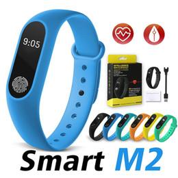2019 m2 reloj Moda M2 Reloj inteligente Monitor de ritmo cardíaco Monitor de ritmo cardíaco Rastreador de actividad a prueba de agua Pulsera inteligente Podómetro Llamar recordar Salud Pulsera m2 reloj baratos