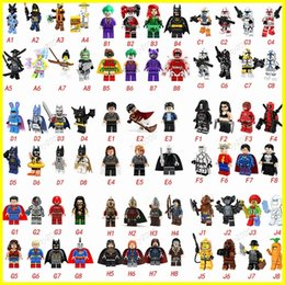Wholesale Spiderman Blocks - Hot 70 type Minifig Super Heroes Avengers Spiderman Space Wars Harry Potter Hobbit Figure Super Hero Mini Blocks Action FiguresToys