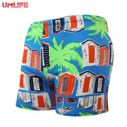 Wholesale Boys Swimming Briefs - UMLIFE Men's Swimming Trunks Swim Shorts Racing Swimsuit Man Swimming Briefs Breathable Swimwear Men Sexy Sport Short XXL Boys
