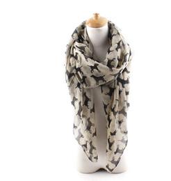 Wholesale Wholesale Ladies Viscose Scarf - 2017 Fashion Ladies Viscose Cotton Dog Print Scarf Animal Shawl Wrap Hjiab Scarves for Women 90*180cm 7Colors