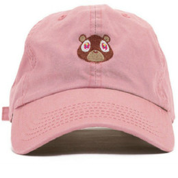 Tappi esclusivi online-2018 Kanye West Ye Bear Dad Hat Lovely Berretto da baseball Summer per uomo Donna Snapback Caps Unisex Exclusive Release