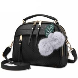 Wholesale Black Leather Hand Bags - women messenger bags new spring summer 2018 inclined shoulder bag women's leather handbags Bag ladies hand bags LX451