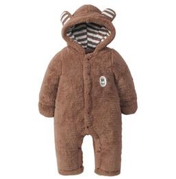 macacão de urso bebê Desconto Roupas infantis 2018 outono e inverno roupas de estilo animais bebê urso Macacão de bebê infantil macacão de pelúcia quente