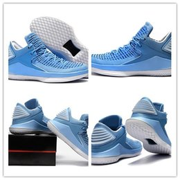 Wholesale North Table - Free shipping 32s North Carolina mens Low Basketball Shoes high quality man 32s blue Sports shoes Sneakers Size 40-46 with box