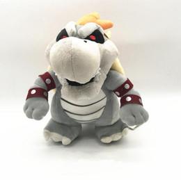 Wholesale Dry Bones - Super Mario 25cm 3D Land Bone Kuba Dragon Plush Toy Bolster Cartoon Plush Soft Stuffed Dolls Dry Bones Bowser Koopa OOA3894