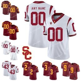 6913b250d0d NCAA USC Trojans 29 Vavae Malepeai 6 Michael Pittman Jr. 21 Tyler Vaughns 1  Velus Jones Jr. Red White Stitched College Football Jerseys