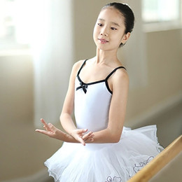 Leotardo blanco al por mayor online-Pink / White Kids Ballet Tutus para la venta Girls Gymnastics Leotard Dancewear Ballet Clothes Wholesale Dance Dress para niñas