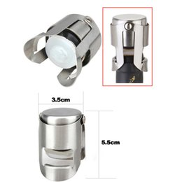 Wholesale Champagne Stoppers Wholesale - Stainless steel wine stoppers with Silicone Sealer Champagne Wine Bottle Stopper Sealer Bar Wine Plug tools
