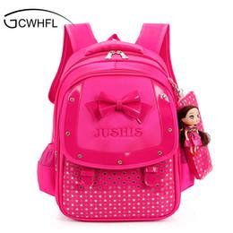 Wholesale Kids School Satchel - Cute Girls Backpacks Kids Satchel Children School Bags For Girls Orthopedic Waterproof Backpack Child School Bag Mochila Escolar