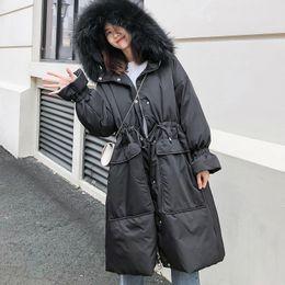 0475e4b26f42f7 autunno / inverno 2018 edizione Corea, il vero collo di pelliccia è  addensato e il piumino è più spesso le donne superiori cappotti 90155