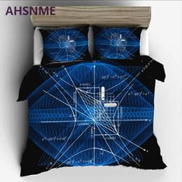 impressões de fórmula Desconto Fórmula matemática AHSNME conjugado hipérbole conjunto de cama de alta definição de impressão colcha capa para RU AU UE rei tamanho duplo