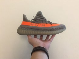 Wholesale Green Charcoal - 2018 KANYE WEST BOOST 350 V2 STEGRY BELUGA 1.0 BB1826 SOLRED ROUSOL Grey Orange Running Shoes CHARCOAL GREY GRIS Triple Outdoors Sneakers