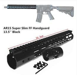 Argentina 13.5 pulgadas Free Float NSR KeyMod Handguard Soporte de montaje con riel desmontable NEGRO Tuerca barril para AR-15 M4 M16 Suministro