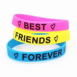 Heißer Verkauf 1 STÜCK Mode Motivierende Beste Freunde Für Immer Silikon Armband Freundschaft Silikon BraceletBangles Geschenke SH159 von Fabrikanten