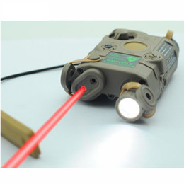 Wholesale led light for shooting - Hunting Flashlight AN-PEQ-15 Upgrade Version Tactical LED White Light + Red Laser With IR Lenses For Hunting Shooting