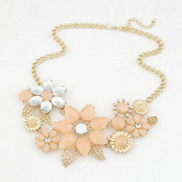 Wholesale Elegant Chunky Necklaces - whole saleFashion Women Chic Flower Choker Statement Necklace Elegant Chunky Party Jewelry Gifts KQS8
