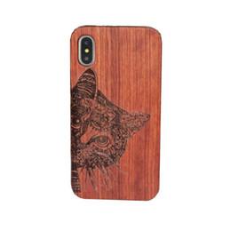 capas de madeira esculpidas Desconto Caso de madeira genuíno para iphone x 6 7 8 casos de telefone de capa dura de madeira escultura para iphone 7 plus bambu habitação s9 retro
