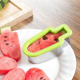 2019 utensili tagliati a melone Taglia anguria in acciaio inox fetta di anguria forma di ghiacciolo utensile da taglio melone affettatrice affettatrice gadget da cucina ZA5962 utensili tagliati a melone economici