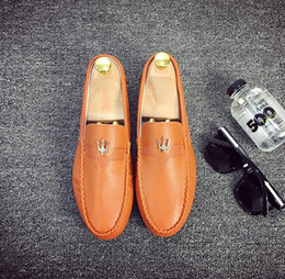 Herren graue kleid schuhe online-2018 Förderung New Fashion Mens Schnalle braun grau schwarz Höcker Müßiggänger schwarz Casual Dress Schuhe US-Größe: 6,5-9 343